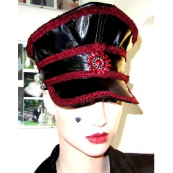 Military style  Leatherette hat